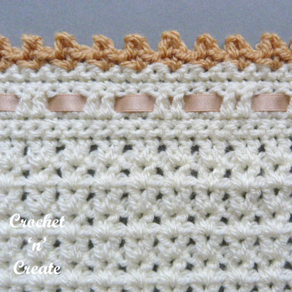 Pram-crib cover free crochet pattern