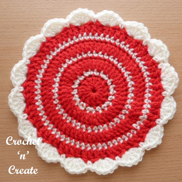 Free pattern flowerpot mat