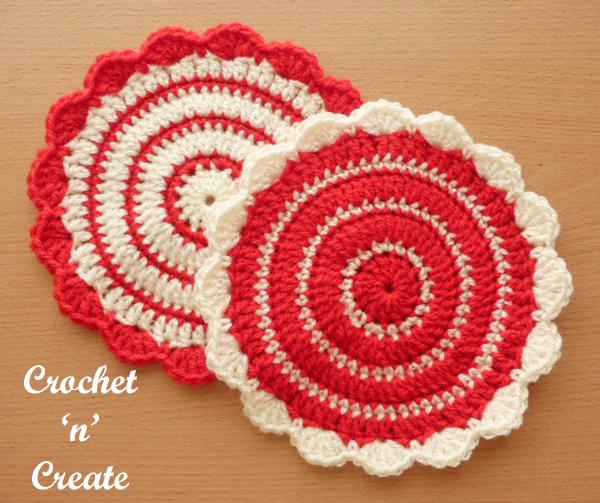 Crochet flowerpot mat free pattern