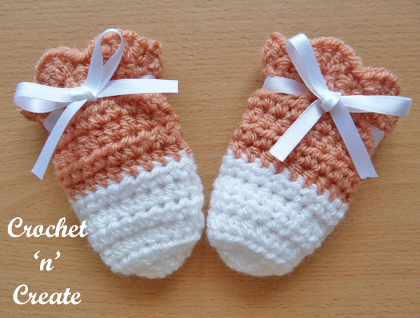 Crochet cutie baby mitts pattern uk
