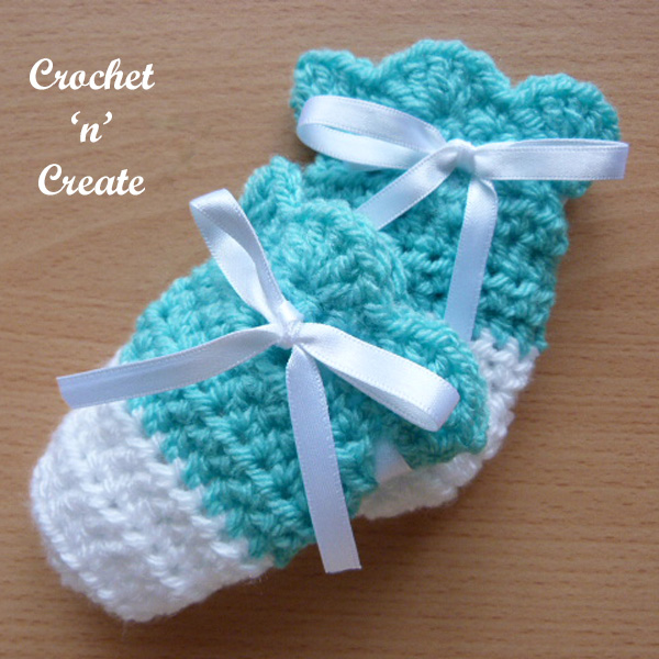 Free cutie baby mitts crochet pattern uk