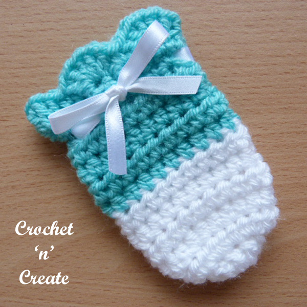 Free crochet pattern cutie baby mitts uk