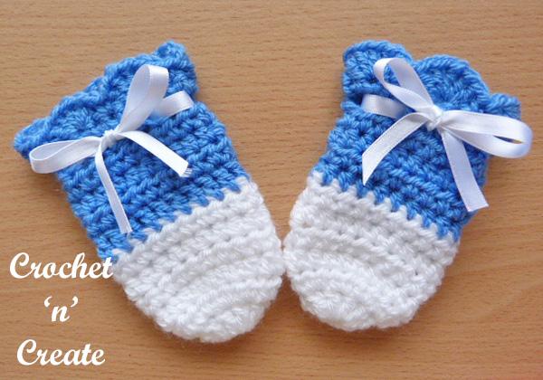Cutie baby mitts crochet pattern