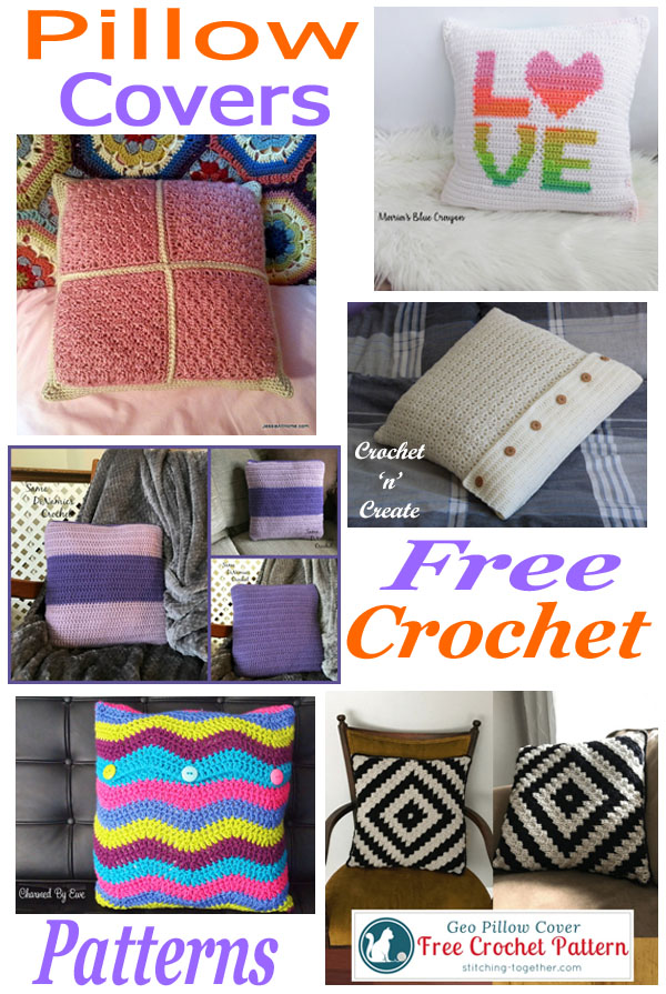 Free crochet pattern roundup pillow covers