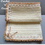 Free crochet pattern pram-crib cover
