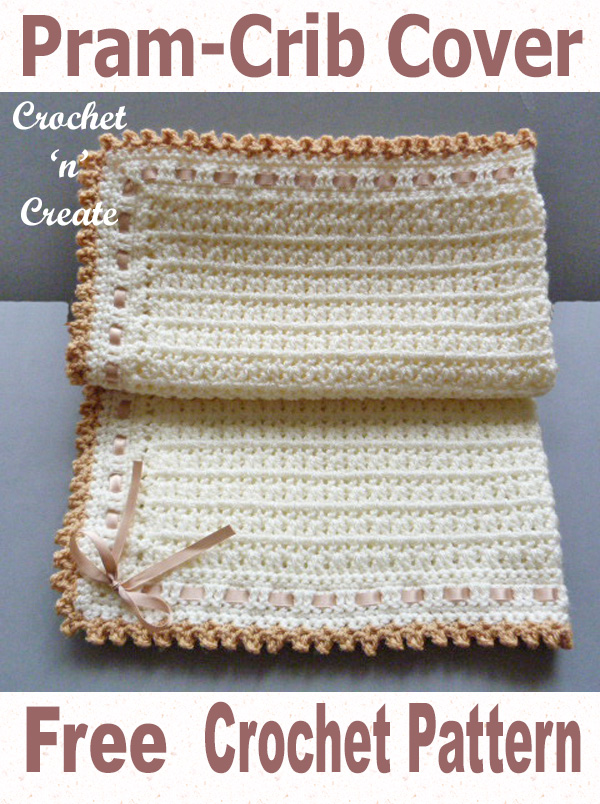 Free crochet pattern pram-crib cover