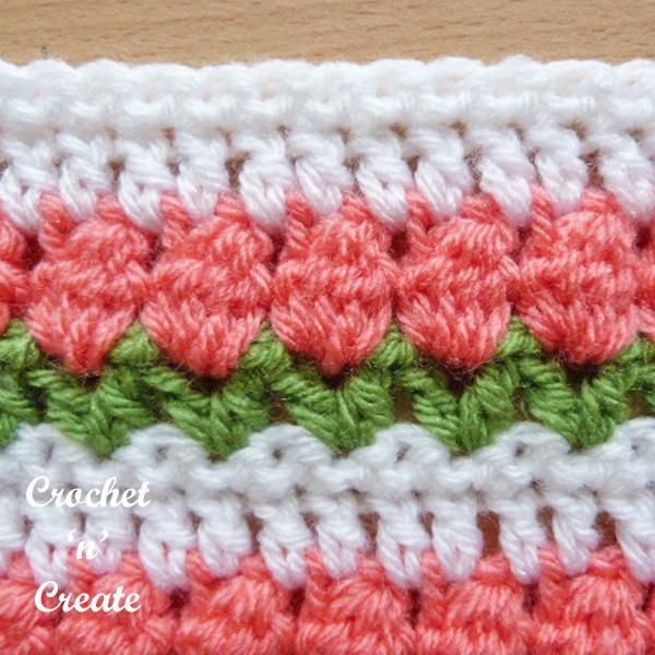 Free tulip stitch crochet tutorial