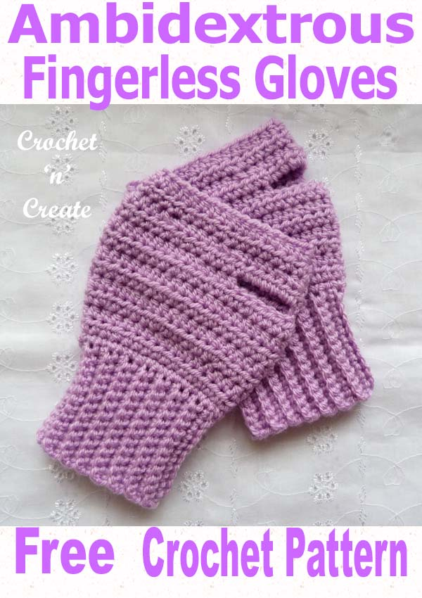 ambidextrous fingerless gloves uk free crochet pattern