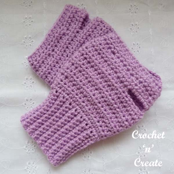 crochet ambidextrous fingerless gloves uk1
