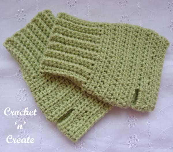 Crochet ambidextrous fingerless gloves