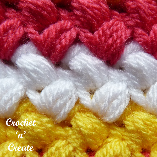 Free bean stitch crochet tutorial