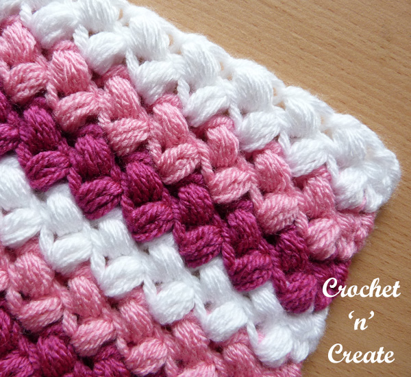 crochet bean stitch free tutorial