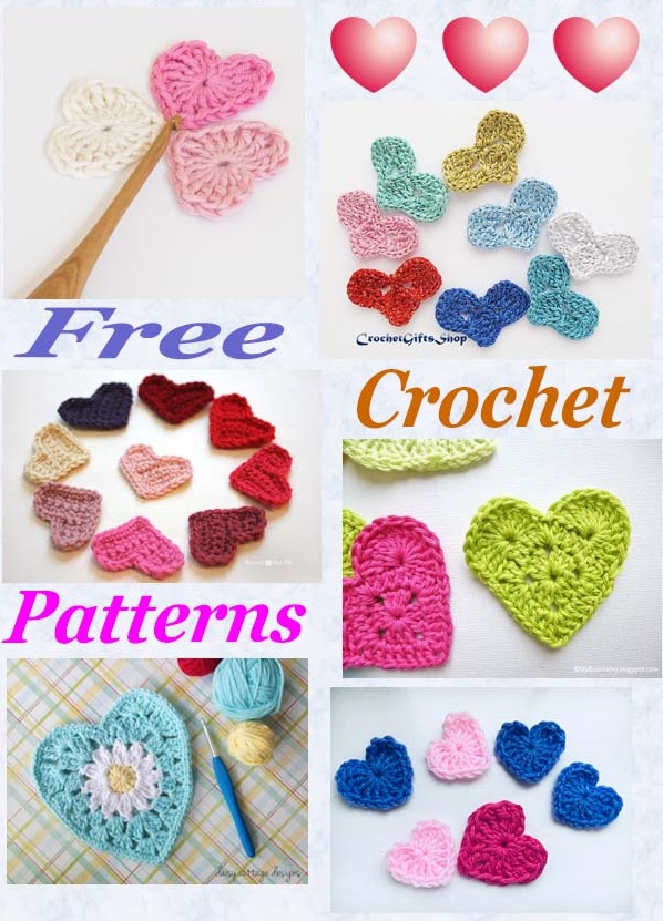 Free pattern roundup crochet hearts
