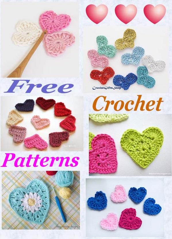 Free pattern roundup crochet hearts