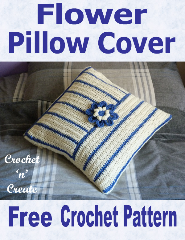 flower pillow cover free crochet pattern