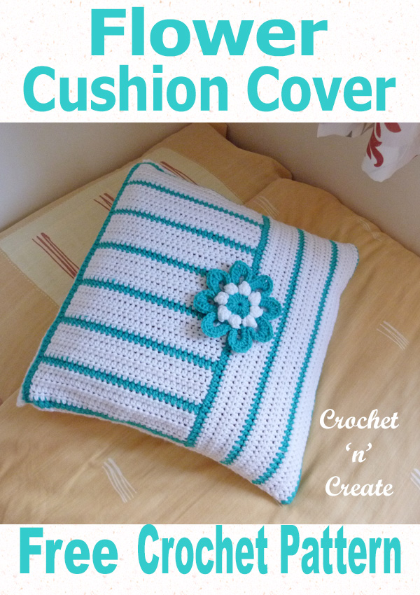 flower pillow cover uk free crochet pattern