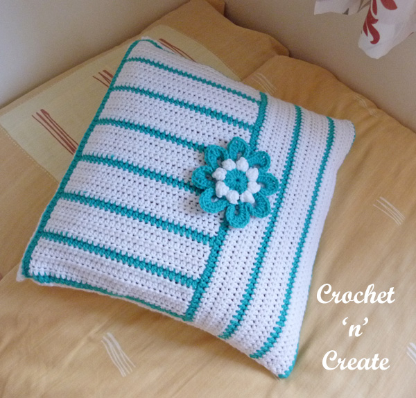 flower cushion cover uk free crochet pattern