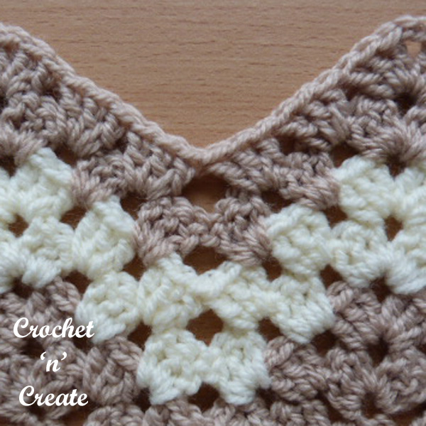 Crochet granny chevron stitch