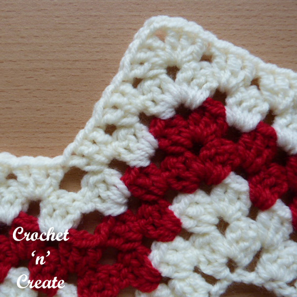 Crochet granny chevron stitch tutorial