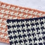 Free crochet tutorial houndstooth stitch