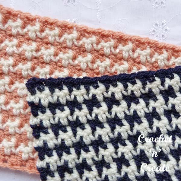 Free crochet tutorial houndstooth stitch