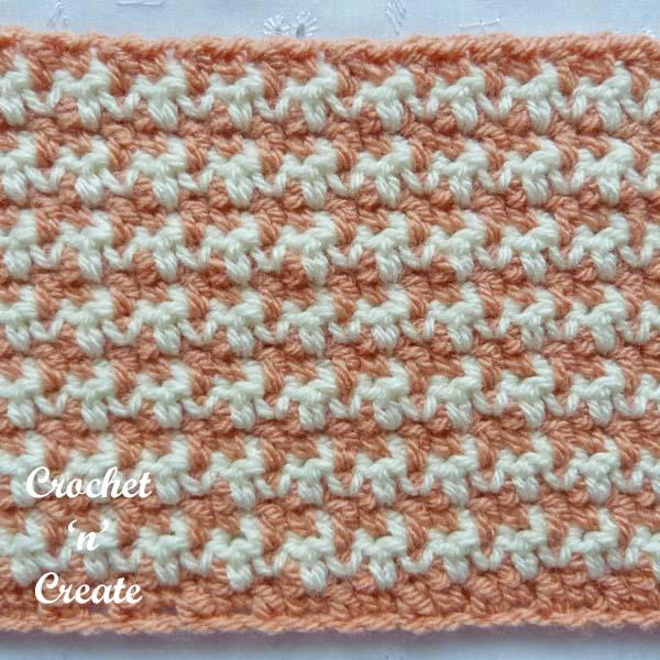houndstooth crochet stitch tutorial