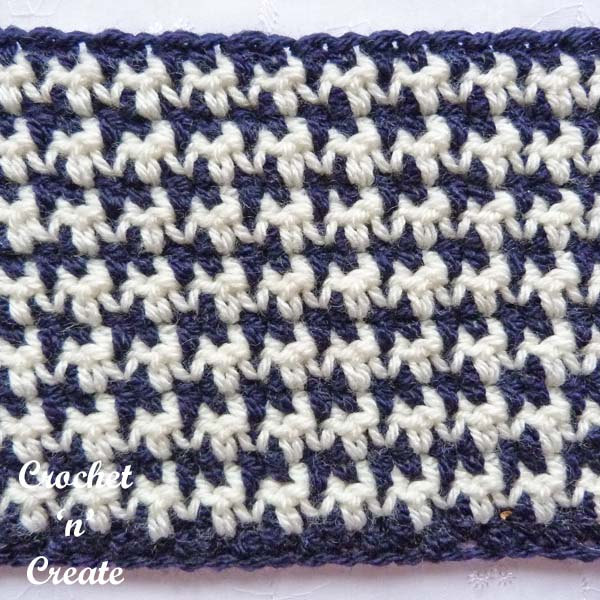 Crochet houndstooth