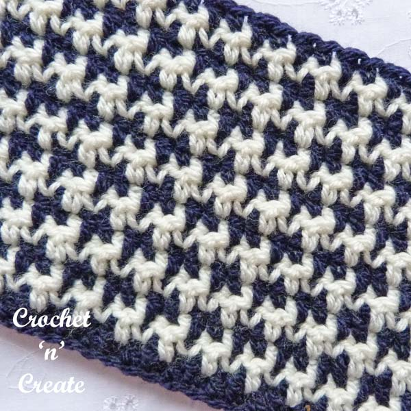 Crochet houndstooth stitch