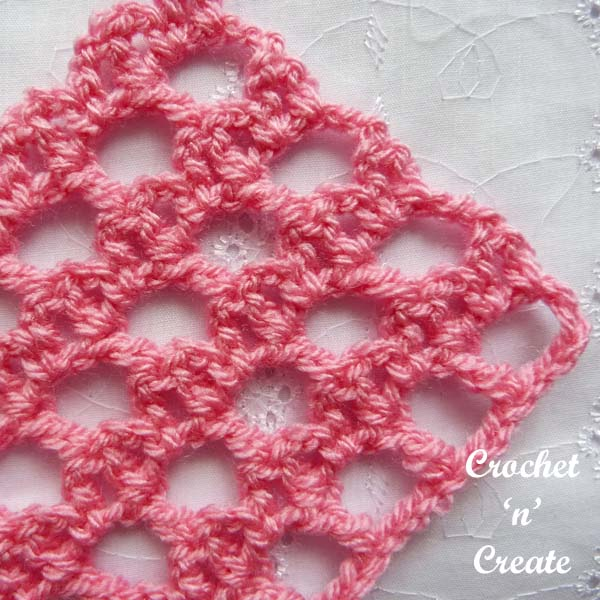 Free crochet tutorial lattice-bar stitch