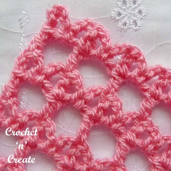 lattice and bar crochet stitch