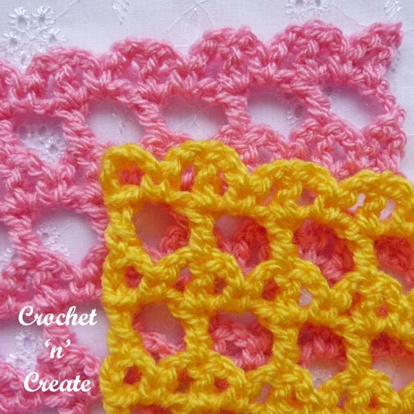 Free crochet lattice and bar tutorial