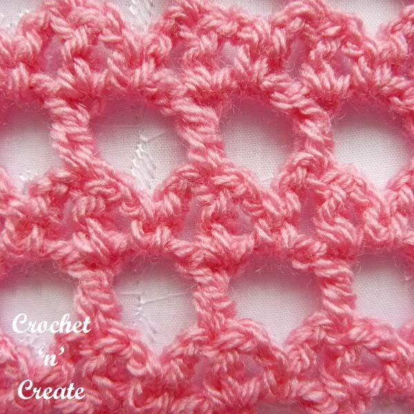 crochet lattice and bar stitch