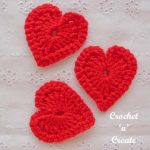 crochet love heart motif pattern