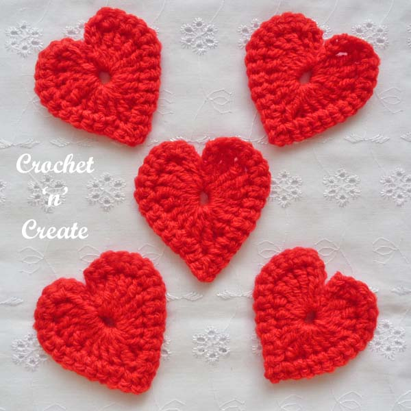 love heart motif free pattern