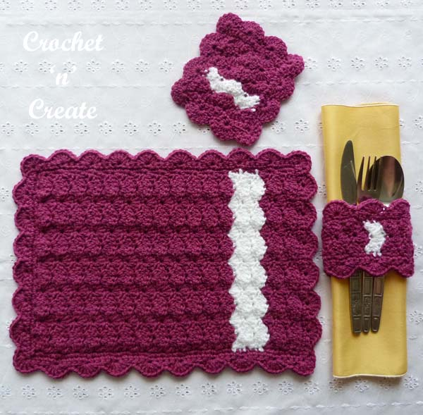Place setting uk free crochet pattern