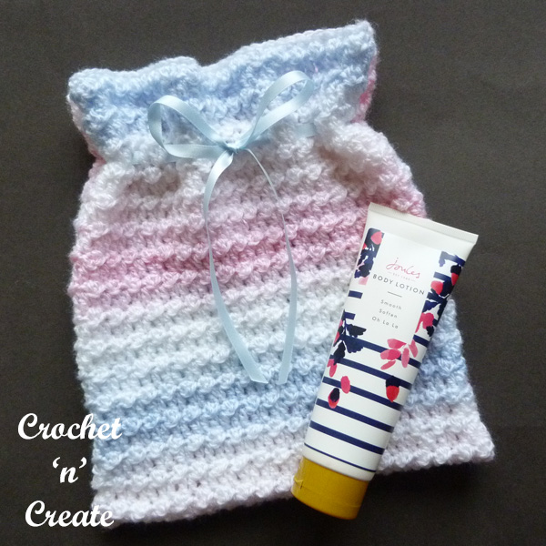 Travel sponge bag uk free crochet pattern