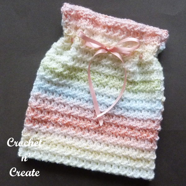 Free travel sponge bag crochet pattern