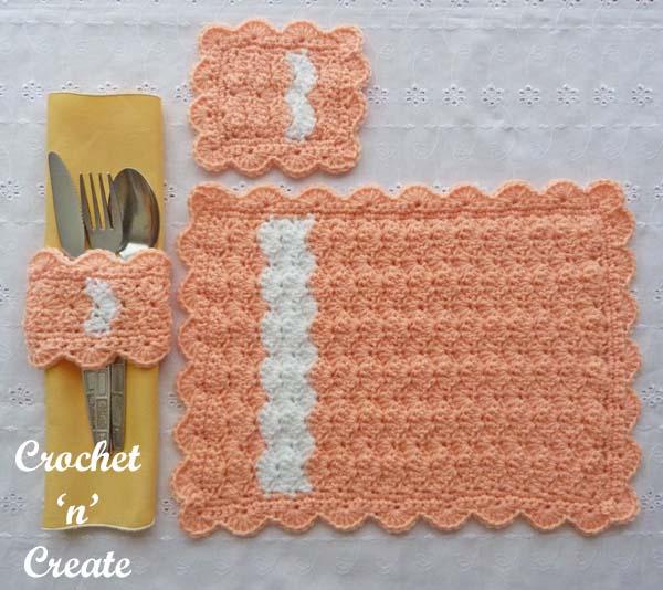 Place setting free crochet pattern