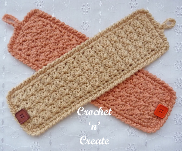 Crochet textured mug cozy uk