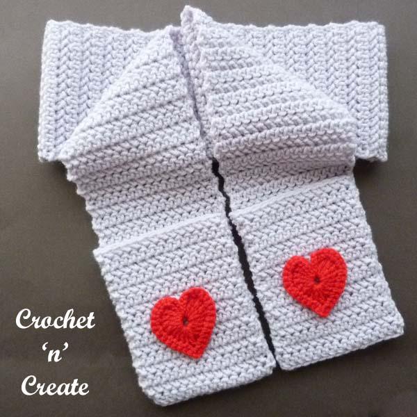 Free valentine pocket scarf uk pattern