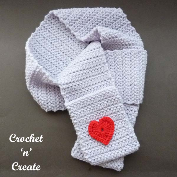 Crochet valentine pocket scarf uk pattern