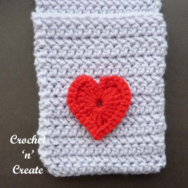 valentine pocket scarf uk free pattern