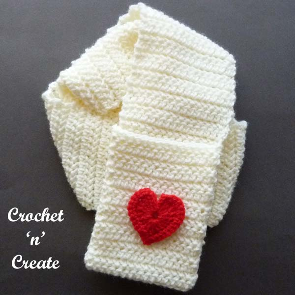 valentine pocket scarf pattern