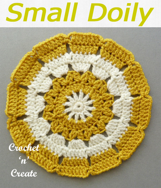 Free Crochet pattern for small doily, decorate your coffee, occasional and dining tables. CLICK and scroll down the page to get the pattern. | #crochetdoily #crochetmandala #crochettablecentre #crochetncreate #crochet #howto #crochetpattern #freecrochetpattern #easypattern #freepattern #forbeginners #diy #crafts #crochetaddict #followforcrochet
