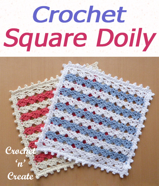 Free square doily crochet pattern with picot border, ideal as a center piece for your tables. CLICK and scroll down the page for the pattern. | #crochetdoily #crochetmandala #crochettablecentre #crochetncreate #crochet #howto #crochetpattern #freecrochetpattern #easypattern #freepattern #forbeginners #diy #crafts #crochetaddict #followforcrochet