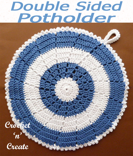 A free crochet potholder pattern which can also be used as a hot pad, ideal to protect your hands and surfaces from getting burnt. CLICK and scroll down the page for the pattern. | #crochetpotholder #crochetncreate #crochet #howto #crochetpattern #freecrochetpattern #easypattern #freepattern #forbeginners #diy #crafts #crochetaddict #followforcrochet