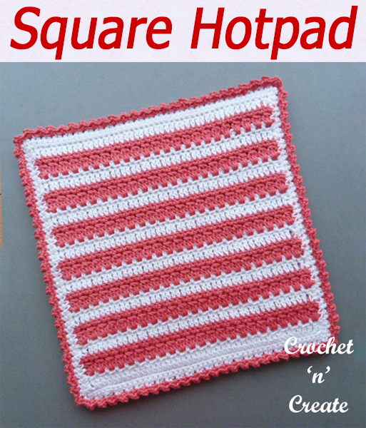A free crochet hot pad pattern to put vegetable dishes on etc. Made in an easy dc and cluster stitch pattern, it is a great project to take anywhere with you. CLICK and scroll down the page for the pattern. | #crochethotpad #crochetncreate #crochet #howto #crochetpattern #freecrochetpattern #easypattern #freepattern #forbeginners #diy #crafts #crochetaddict #followforcrochet