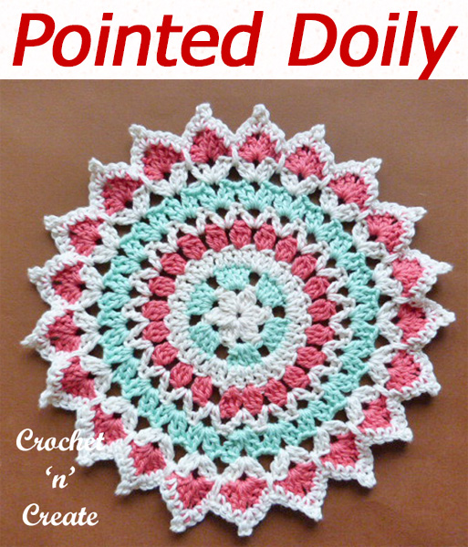 Crochet this colorful pretty pointed doily, a free crochet pattern, I have made in soft cotton, use as a table center mat or on your dressing table. CLICK and scroll down to get the pattern. | #crochetdoily #crochetmandala #crochettablemat #crochetncreate #crochet #howto #crochetpattern #freecrochetpattern #easypattern #freepattern #forbeginners #diy #crafts