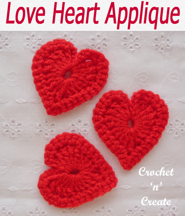 Spread the love around your home with this tiny love heart, a free crochet pattern you can use on most projects. #crochetncreate