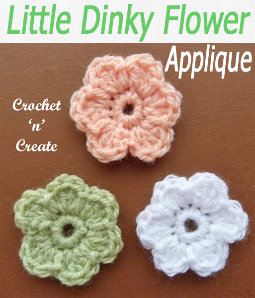 Cute flowers that are small enough to be used on small projects, add this free crochet pattern to cushions, cowls, scarves or placemats. #crochetncreate